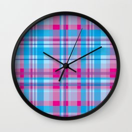 Plaid_Series 2 Wall Clock