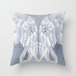 Stone Elephant Throw Pillow