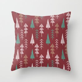 Tree forest Throw Pillow