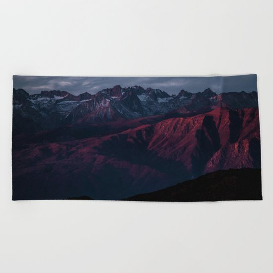 Mountain Landscape #sunset Beach Towel