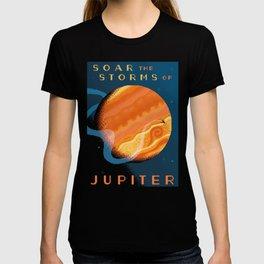 JUPITER Space Tourism Travel Poster T-shirt