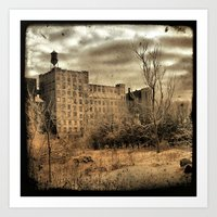 cityscape Art Prints featuring Cityscape by The Strange Days Of Gothicrow