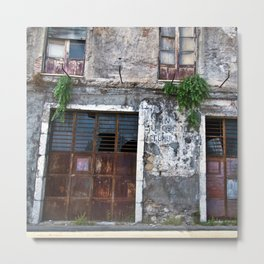 Old Sicilian facade of Taormina Metal Print
