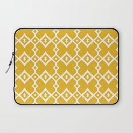 Yellow Chevron Diamond Pattern Laptop Sleeve