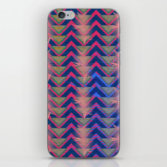 Chevron and  Geometric with pink iPhone Skin