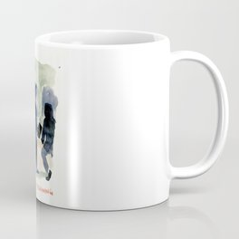 Finding a seat on the subway this morning. By Ali Hall Coffee Mug