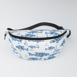 Blue fish. Fanny Pack