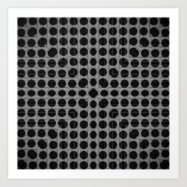 Silver and Black Dots Art Print
