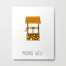 Midas Well Metal Print