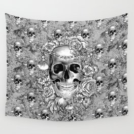 Natural Death BW Wall Tapestry