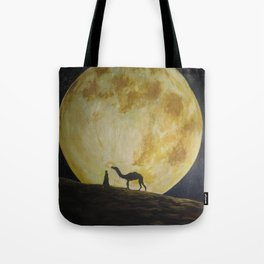 Travelling in Moonlight Tote Bag