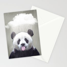 Panda Rain Stationery Cards