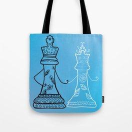 Chess King Qeen Tote Bag