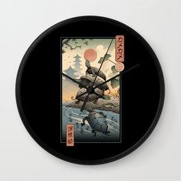 Kame Kame Ukiyo-e Wall Clock