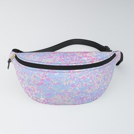 Abstract hand painted pink teal watercolor splatters Fanny Pack