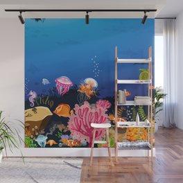 Beautiful Coral Reef Animals Wall Mural