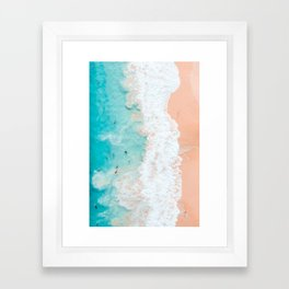 BEACHED OUT BLUES Framed Art Print