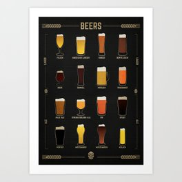 Beer Guide Art Print