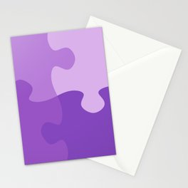 Pastel Ultra Violet Puzzle Pattern Jigsaw Pieces Stationery Cards