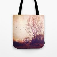 explore Tote Bags featuring explore by Sylvia Cook Photography