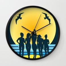 midnight on the beach  Wall Clock