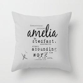 Amelia {striving} Throw Pillow
