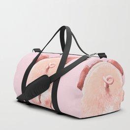 Pig Cutie Butt in Pink Duffle Bag