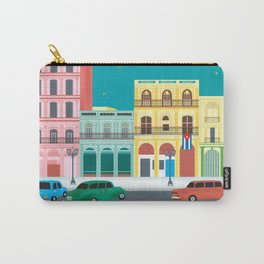 Havana, Cuba - Skyline Illustration by Loose Petals Carry-All Pouch