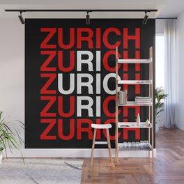 ZURICH Swiss Flag Wall Mural