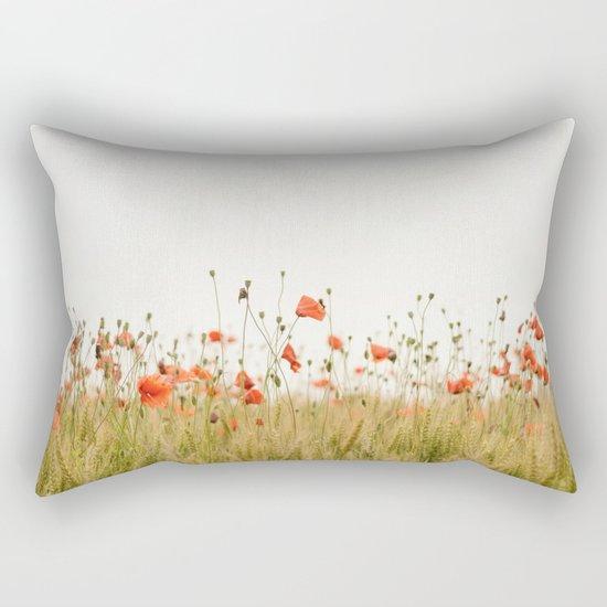 Poppies Coquelicots Rectangular Pillow