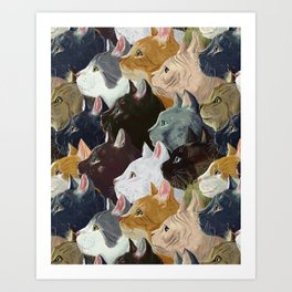 Never ending cats Art Print