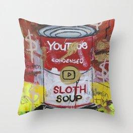 Sloth Soup Preserves Throw Pillow