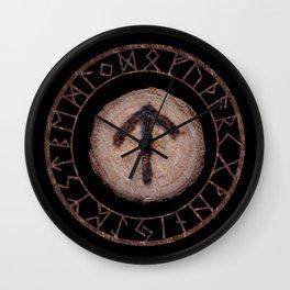 Tiwaz - Elder Futhark rune Wall Clock