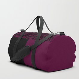 Abstract combo black and Burgundy decor Duffle Bag