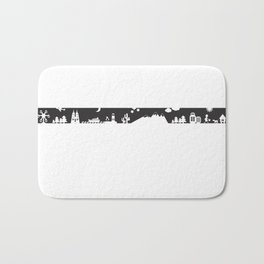 Find your angle_Travel_MonoBlack Bath Mat