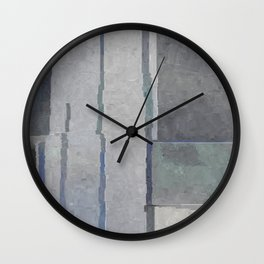Blues and Grays Wall Clock