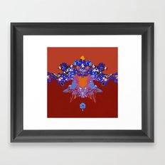 Toon Inkblot 2 Framed Art Print