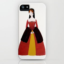 Jane Seymour - The Six Wives of Henry VIII Original Acrylic on Canvas iPhone Case