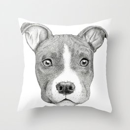 Staffordshire Terrier Dog Throw Pillow