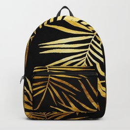 Tropical Palm Fronds Noir Backpack