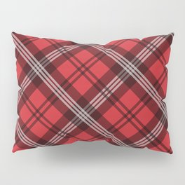 Scottish Plaid (Tartan) - Red Pillow Sham