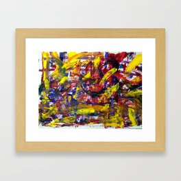 Blind Painting Framed Art Print