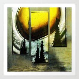 Sun Triptych 2 Art Print