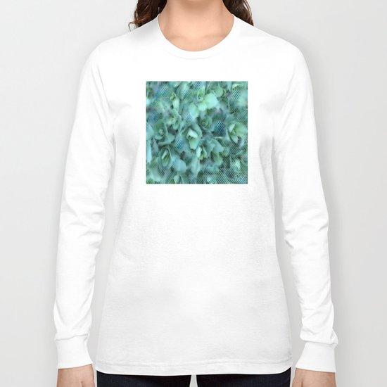 Flower | Flowers | Sedum Dot Graphic Long Sleeve T-shirt
