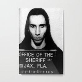 Manson Mugshot Metal Print