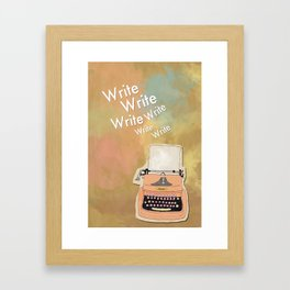 The Typewriter Framed Art Print