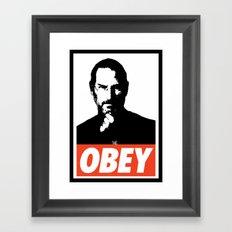Obey Steve Jobs Framed Art Print