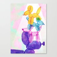 baloon Canvas Prints featuring Baloon Pups by Fricking