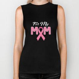 For My Mom Pink Ribbon Biker Tank