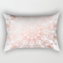 Dancing Mandala Rose Gold Rectangular Pillow